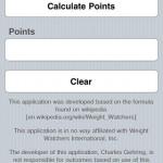 Points Calculator Screenshot 2